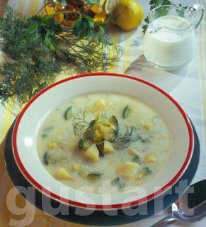 Lajos Mari konyhája - Kapros-cukkinis újkrumplileves