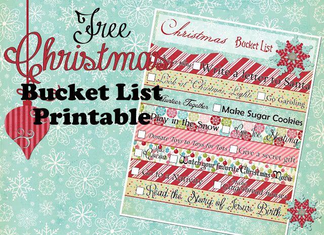 {Christmas Bucket List} Free Printable!