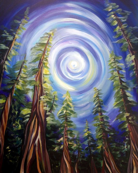 Vancouver Island Ancient Forest, Landscape Painting - Stretched Canvas Print Gic... - http://home-painting.info/vancouver-island-ancient-forest-landscape-painting-stretched-canvas-print-gic/