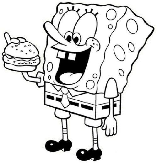 Gambar Sketsa Spongebob Halaman Mewarnai Spongebob Kartun
