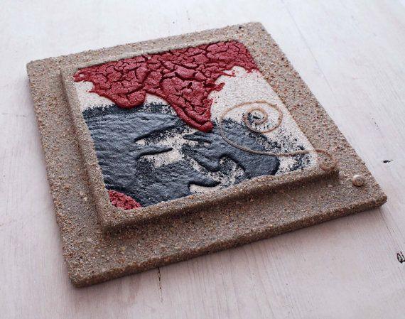 Quadro di sabbia. Arte di sabbia. Quadro arredo casa.