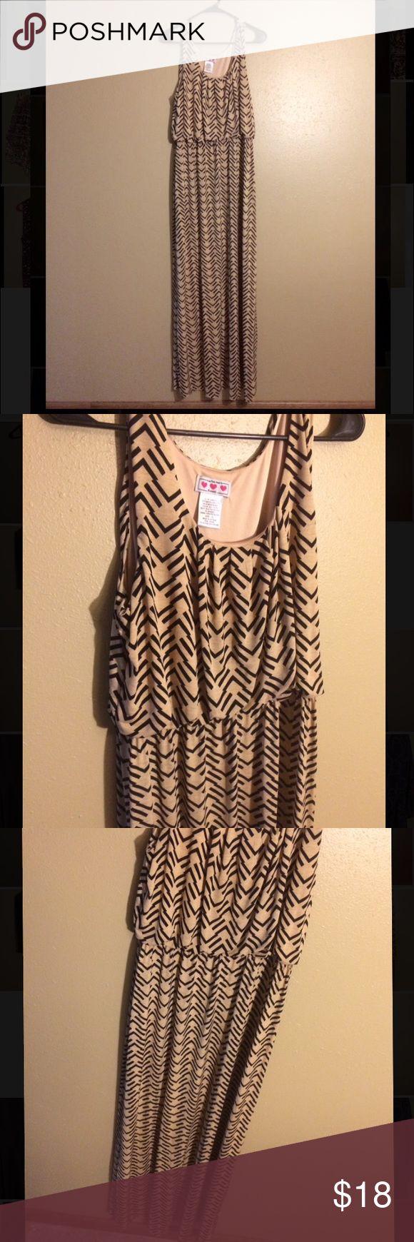 Black and Tan Aztec maxi dress Black and Tan maxi dress. Great quality! Super comfortable Dresses Maxi