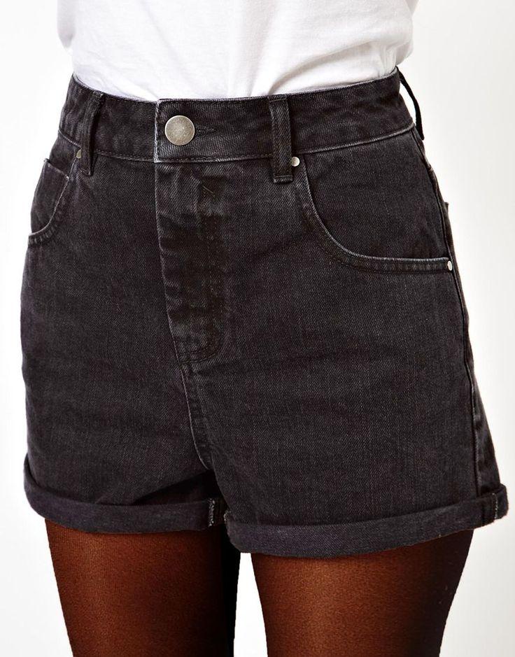 Best 25  Black denim shorts ideas on Pinterest | Black high ...