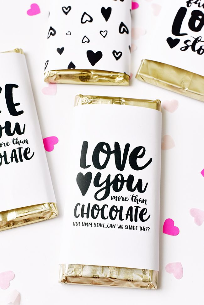 Pen N' Paper Flowers: FREE | Valentine's Day Ghirardelli Chocolate Bar Wrappers