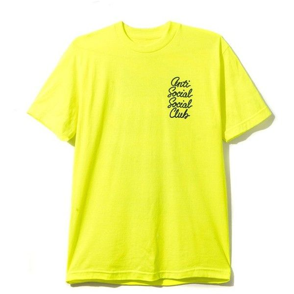 Options Neon Yellow Tee (€31) ❤ liked on Polyvore featuring tops, t-shirts, logo t shirts, logo top, yellow top, fluorescent yellow t shirts and neon yellow t shirt