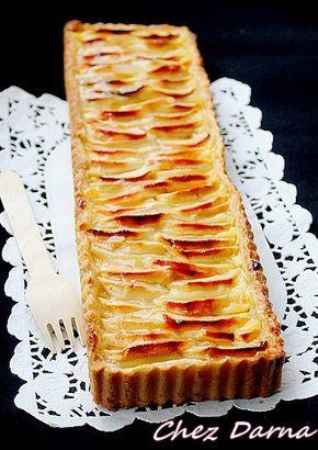 tarte aux pommes et crème patissière