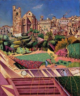 Joan Miró, Mont-roig, l'église et le village, 1919