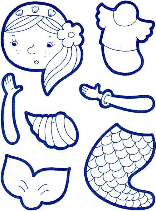 free pirate mermaid coloring pages - photo#42