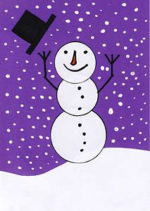 Es schneit - da lacht der Schneemann