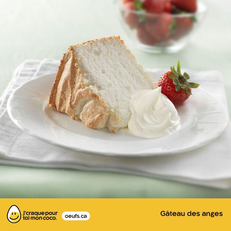 Gâteau des anges | lesoeufs.ca | #Oeufs