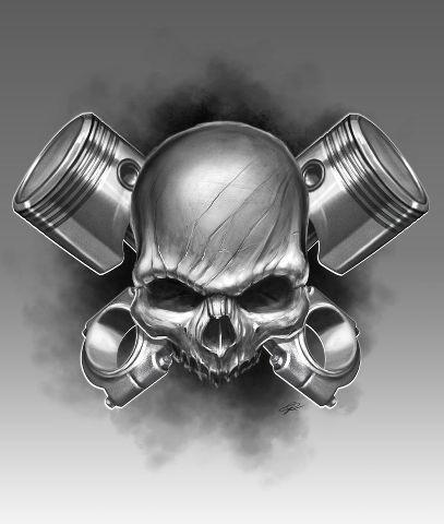 skull piston rod at MillionaireCarClub.Com