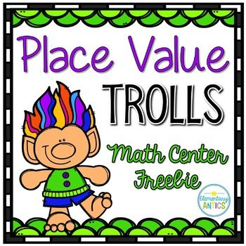 This file features a fun TROLLS inspired math center freebie for you to use in your classroom to help your students practice and master place value! This super fun TROLLS theme can be used year round! If you like this *FREEBIE* you will LOVE these Place Value Centers: 2nd Grade Place Value Centers 3rd Grade Place Value Centers {Trolls Theme}...