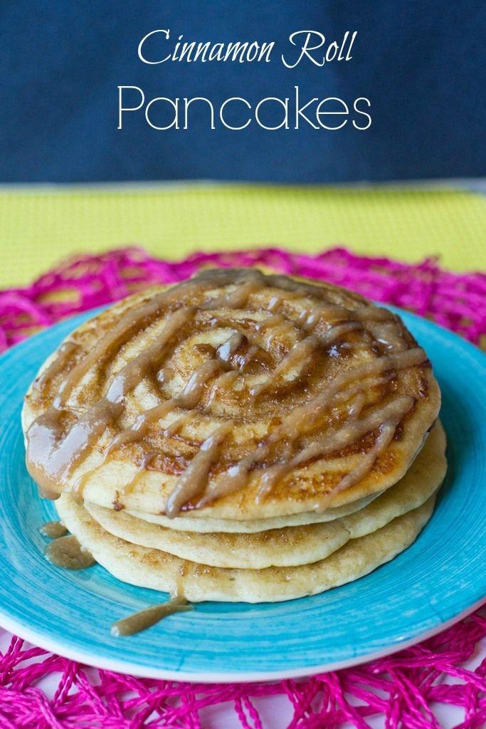 Cinnamon roll pancakes, Cinnamon rolls and Pancakes on Pinterest
