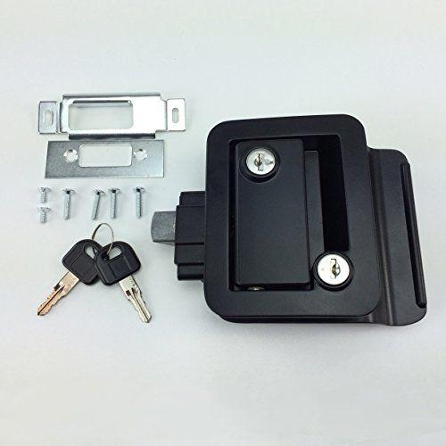 NEW RecPro BLACK RV CAMPER TRAILER MOTORHOME PADDLE ENTRY DOOR LOCK LATCH HANDLE KNOB DEADBOLT. For product info go to:  https://www.caraccessoriesonlinemarket.com/new-recpro-black-rv-camper-trailer-motorhome-paddle-entry-door-lock-latch-handle-knob-deadbolt/