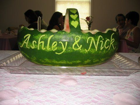 wedding watermelon carving | November | 2009 | Alice in the Kitchen