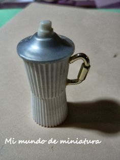 tutorial miniature coffee maker - toothpaste covers