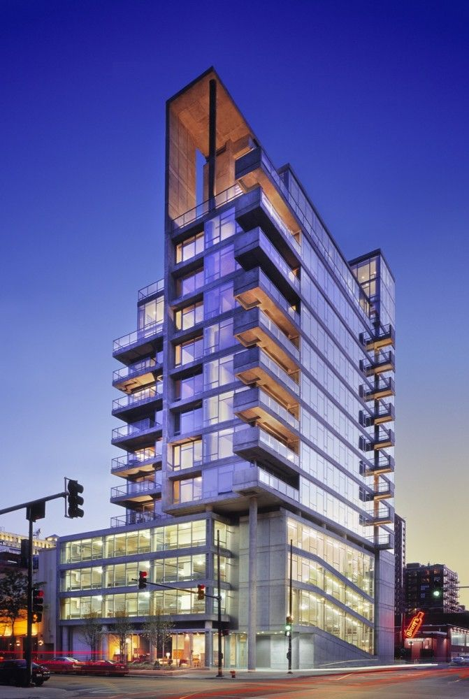 Contemporaine residential tower in Chicago, :: Perkins + Will