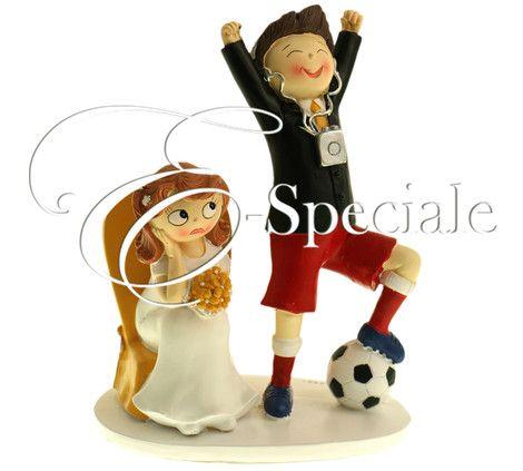 Cake Topper Tema Calcio - Resina - Prodotti per Cake Topper - Cake Topper Sportivi - accessori e gadget per matrimoni e feste - E-speciale