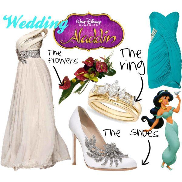 Aladdin Themed Wedding I Just Like The Dress And Shoes