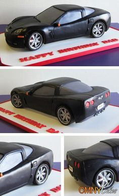 ~ FONDANT FUN ~Fondant/Gumpaste Sports Car cake design