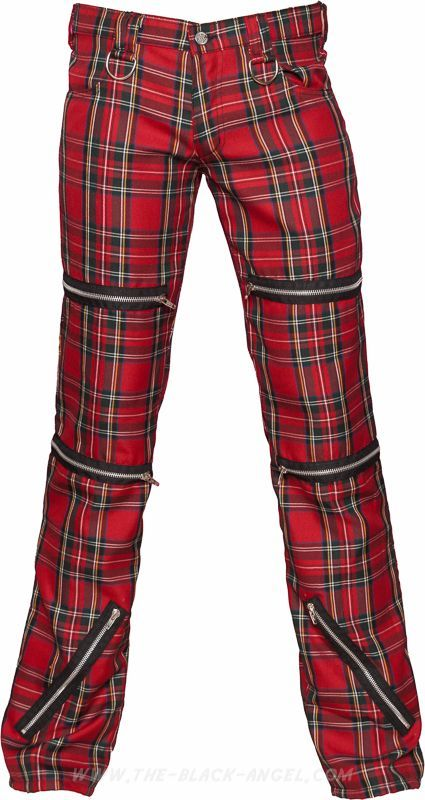Red Plaid Pants For Men