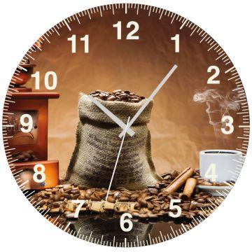 Kahve Aksesuar Saat 27 cm