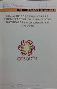 Título: Linea de soportes para la localización de atractivos naturales en la ciudad de Cosquin // Autor: Castro Tevelez, Ileana Magali // Trabajo final (Diseñador industrial)--Universidad Nacional de Córdoba, 2016. // Signatura top: TF0913 (Solicitar en Sección Préstamos)