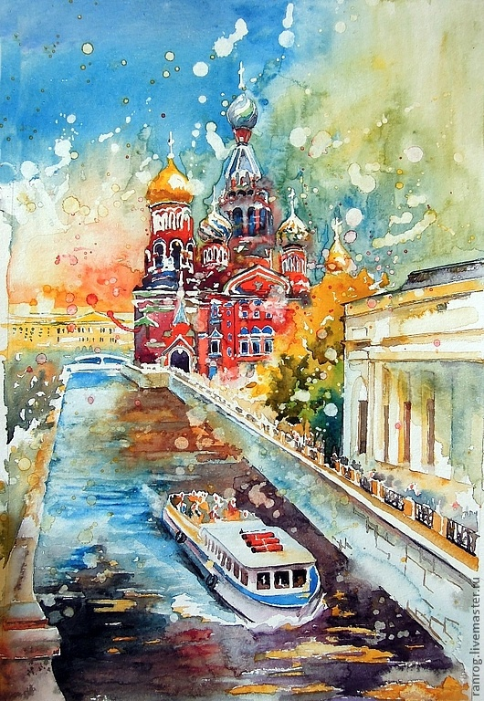Anna Sokolova. Savior on Spilled Blood. Saint Petersburg Her art is so beautiful! I would love to have some of her pieces! WOW.