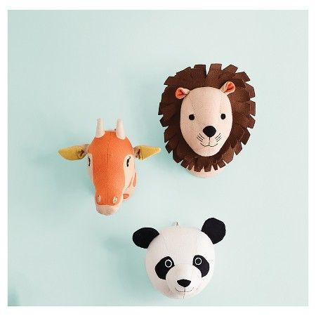 Animal Head Wall Décor by Pillowfort™ at Target - perfect for the nursery gallery wall!