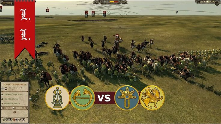 Attila Total War - Online Battle - 2vs2 Tanukhid Ambushers (#112)