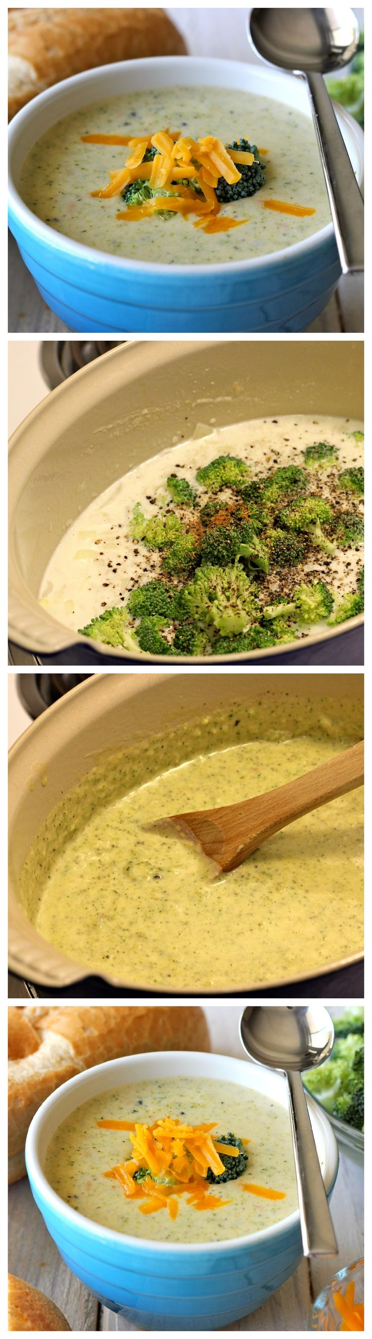 Cream of Broccoli Cheese Soup - So cozy, so cheesy, and chockfull of veggies!