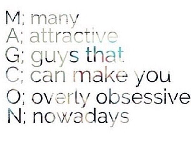 muchos atractivo Chicos que Puede hacerte Excesivamente obsesivo hoy en día