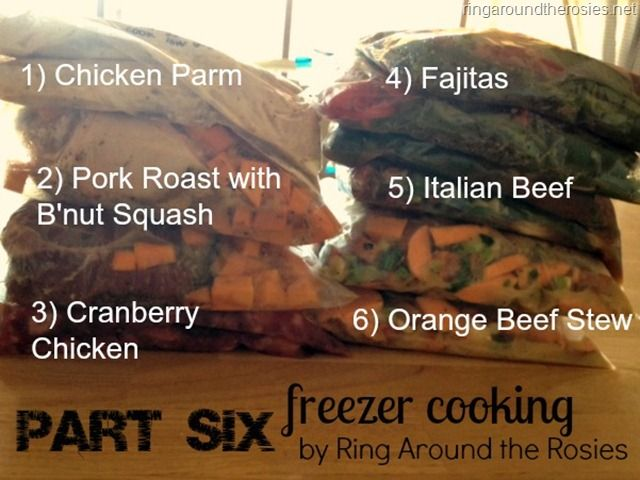 freezer cooking {part 6}