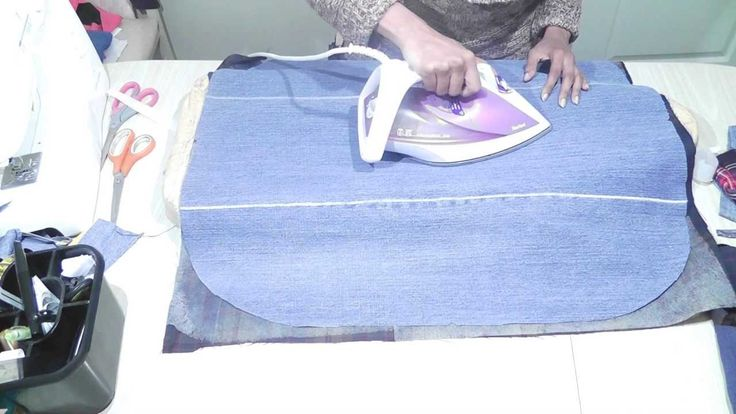 http://www.izzymeimsaab.com How to bond 2 fabrics together to create a much heavy surface which makes excellent bags... here I am bonding wool tartan fabric ...