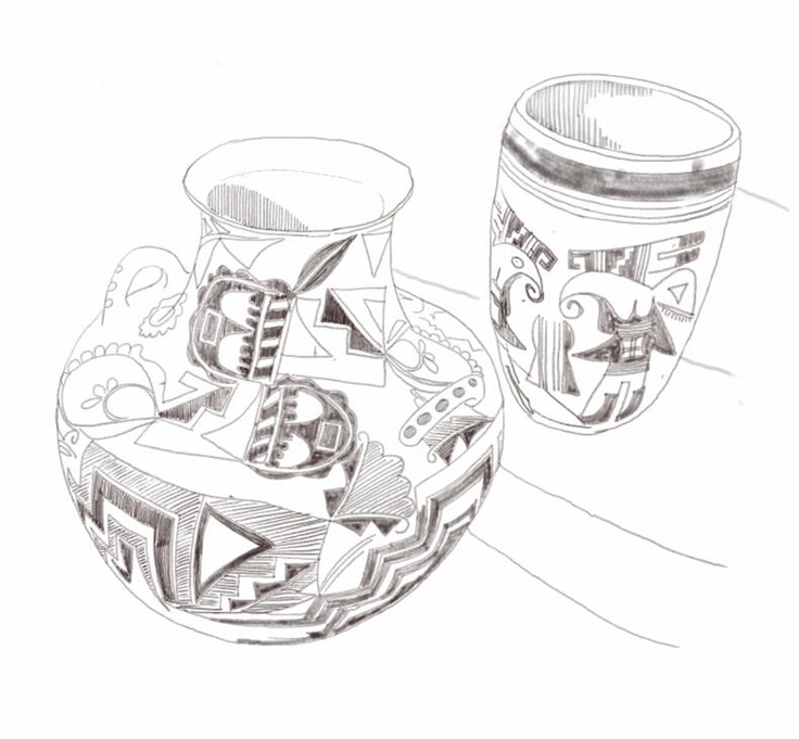 coloring pages native american pottery - photo #19