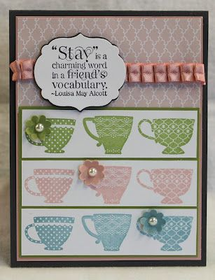 88 best Stampin up tea shoppe images on Pinterest Cards - time card