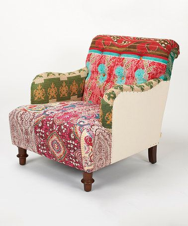 Love this Pink & Red Sage Kantha Armchair on #zulily! #zulilyfinds upholstery inspiration/idea