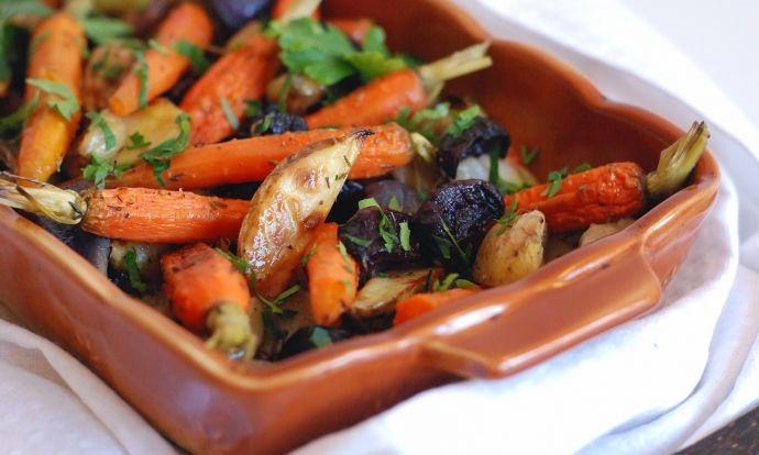 Podzimní zapečená zelenina