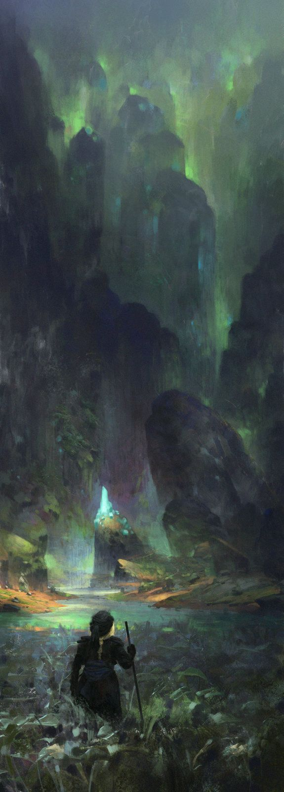 Magic Cave, Max Bedulenko on ArtStation at https://www.artstation.com/artwork/magic-cave-183bb71a-4936-4cea-99b0-b5bd79c741e7