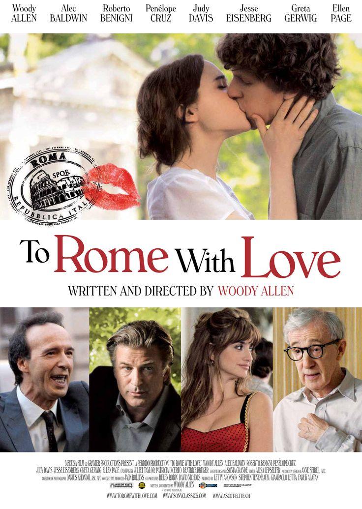 To Rome with love, 2012: Cuatro historias independientes con un escenario común: la ciudad de Roma. http://youtu.be/Zz0seMJZW1o