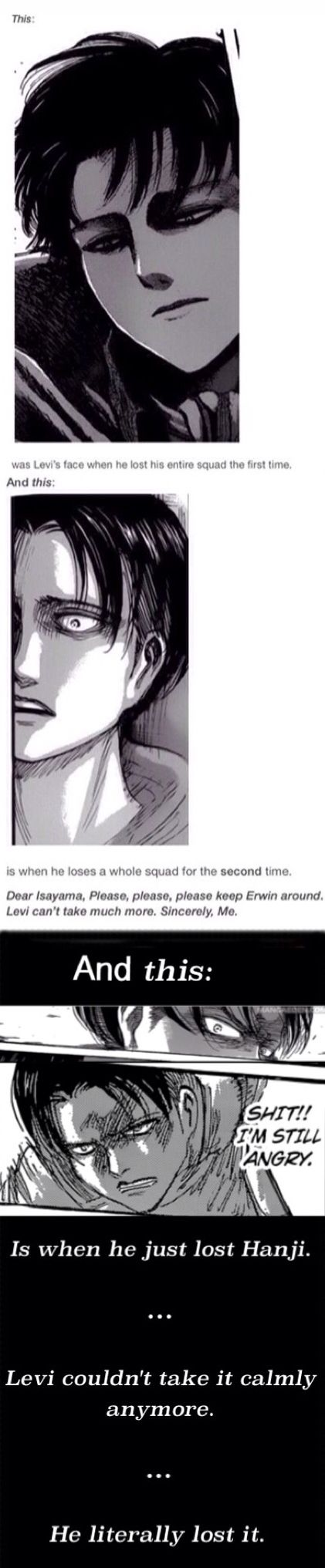 """Look at the bottom! """"And this is when He just lost Hanji... He couldn't take it calmly anymore... He literally lost it."""" 