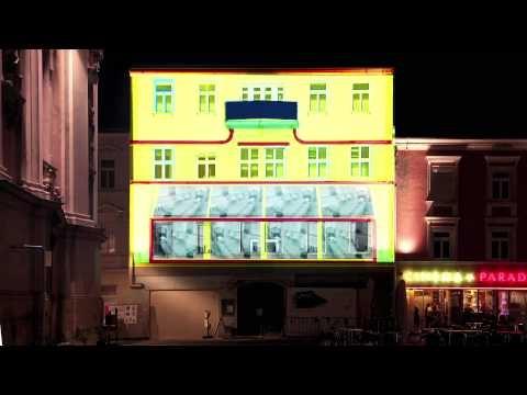 Mapping Cinema Visualisierung / Cinema Paradiso. fhSPACE - FH St. Pölten 2011