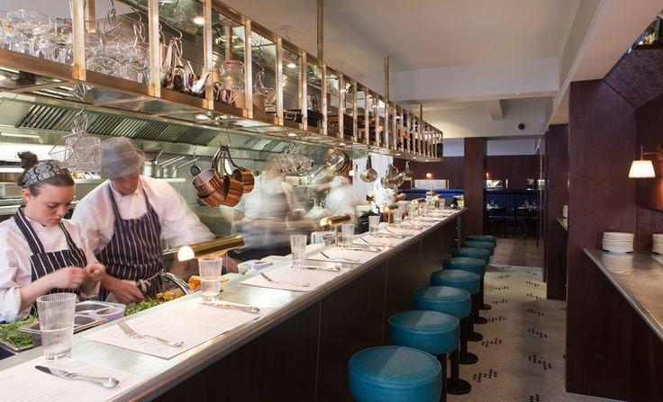 The best restaurants in Soho, Tatler. The Palomar. Restaurant of the year 2016. Jerusalem cooking. One of most popular restaurants in London. All sat on bar stools. 34 Rupert Street