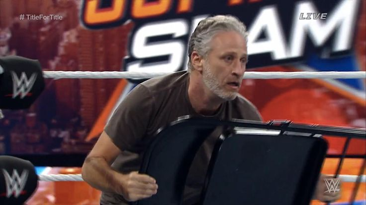 Jon Stewart Attacks John Cena, Stephen Amell Takes Flight at WWE SummerSlam