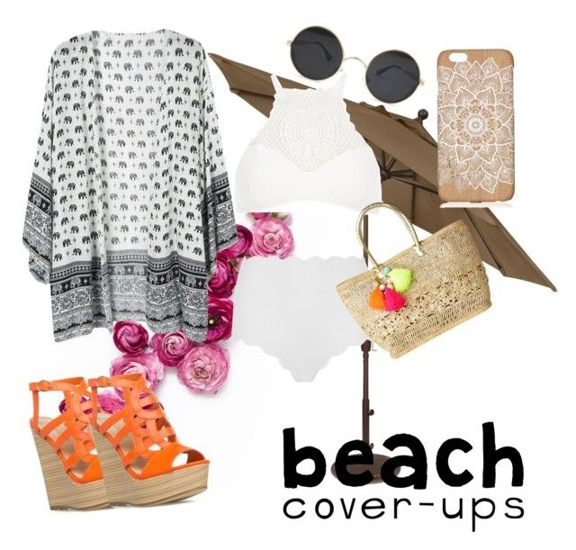 """""""Beach Style"""" by just-teriv on Polyvore featuring River Island, Marysia Swim, Lilly Pulitzer and coverups"""