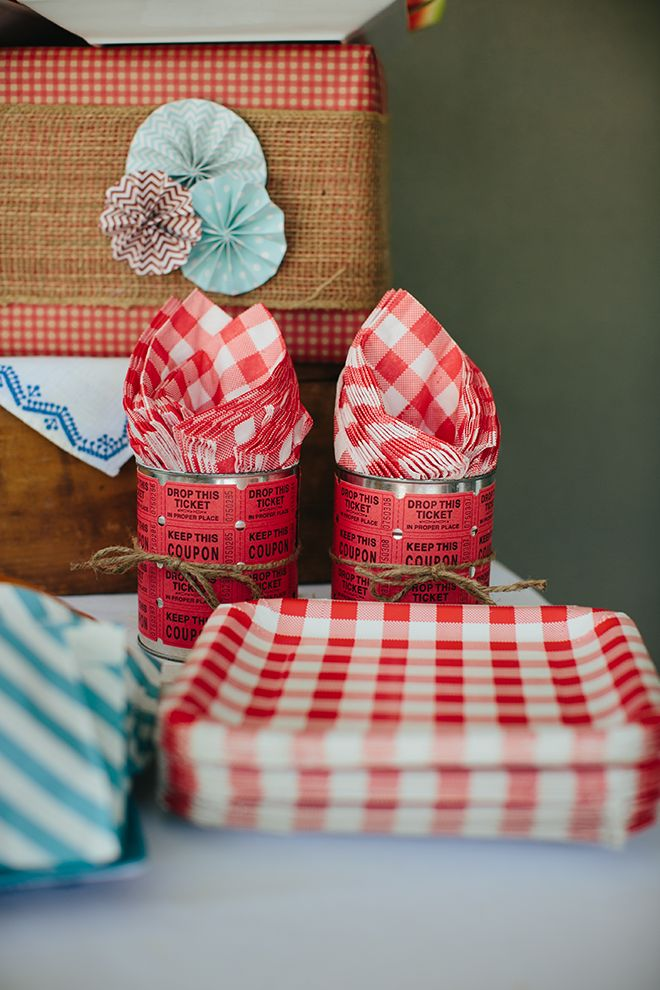 Adorable Vintage County Fair Birthday Party Inspiration and Photos! Love the red gingham!