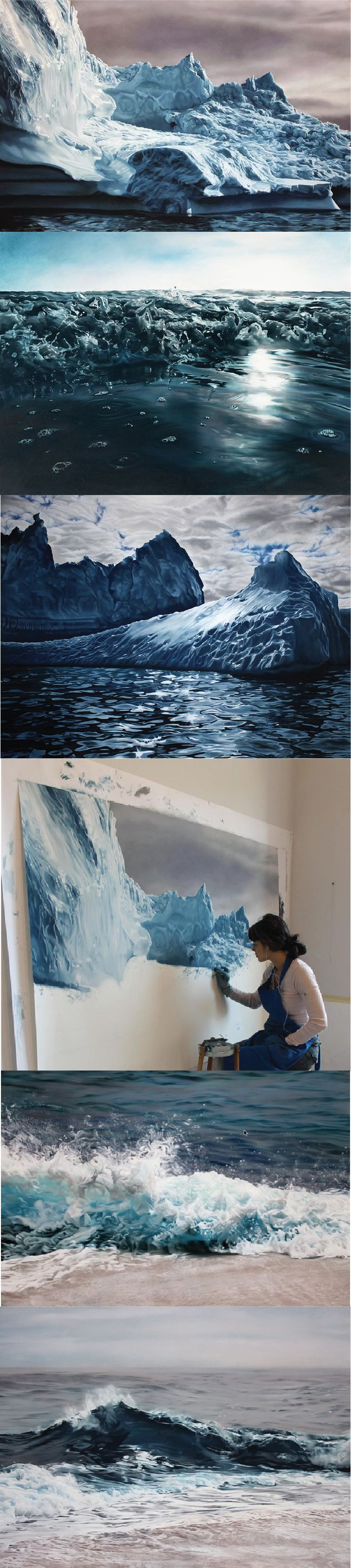 Hyperrealistic Finger painting, Zaria Forman