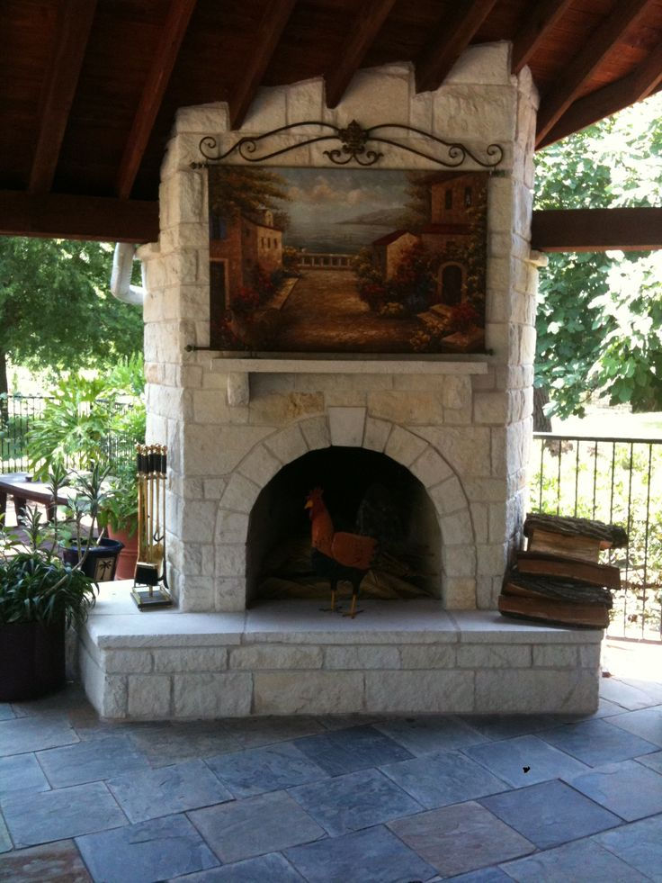 Austin stone fireplace austin stone fireplace for Outdoor stone fireplace designs