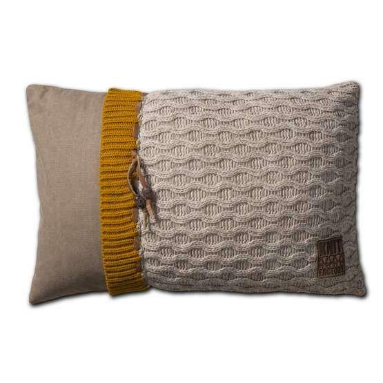 Knit Factory sierkussen Joep Beige Mele Knit Factory Woonaccessoires