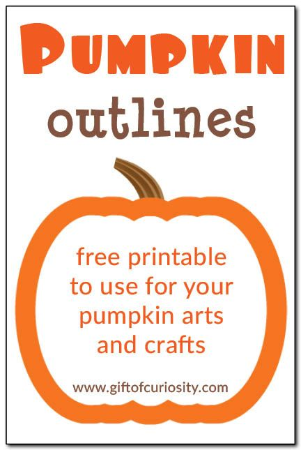 Free printable pumpkin outlines in three sizes to use for all your pumpkin arts and crafts.
